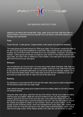 Car Washing Recommendations